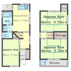3DK House in Osumi - Osaka-shi Higashiyodogawa-ku Floorplan