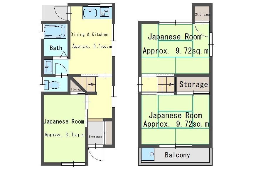 3DK House to Buy in Osaka-shi Higashiyodogawa-ku Floorplan