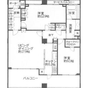 2LDK Apartment in Yuigahama - Kamakura-shi Floorplan