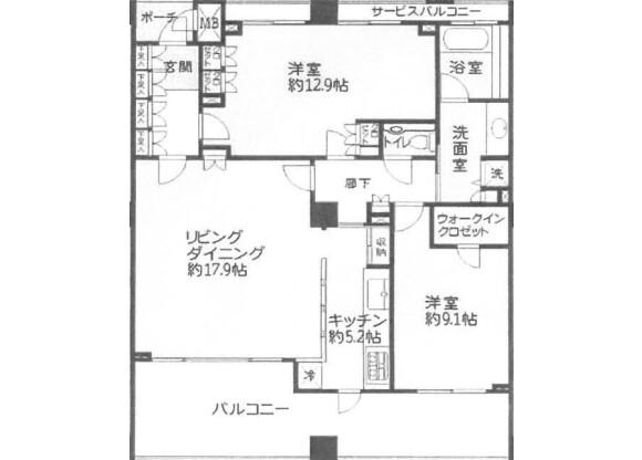 2LDK Apartment to Buy in Kamakura-shi Floorplan