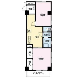 2DK {building type} in Motogi - Kawasaki-shi Kawasaki-ku Floorplan