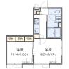 2K Apartment to Rent in Chofu-shi Floorplan