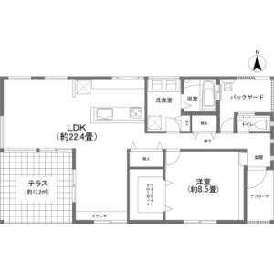 1LDK {building type} in Gesashi - Kunigami-gun Higashi-son Floorplan