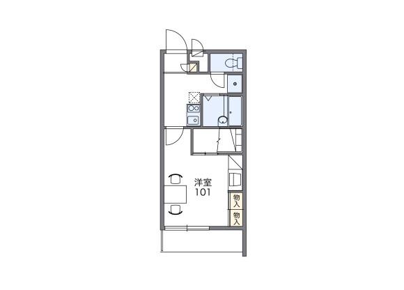 1K Apartment to Rent in Uji-shi Floorplan