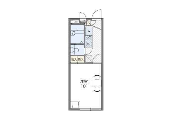 1K Apartment to Rent in Yokohama-shi Nishi-ku Floorplan