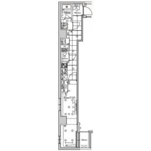 江东区毛利-1K公寓大厦 楼层布局