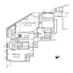 2LDK Apartment in Ebisunishi - Shibuya-ku Floorplan
