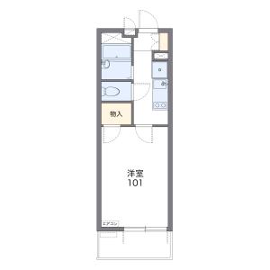 1K Apartment in Yoshizuka - Fukuoka-shi Hakata-ku Floorplan