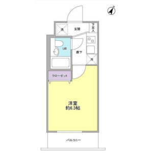 1K Apartment in Tsurumaki - Setagaya-ku Floorplan