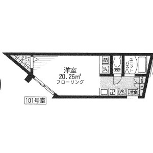 1R Apartment in Shinsaku - Kawasaki-shi Takatsu-ku Floorplan