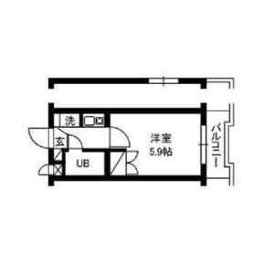 1K Mansion in Minami - Meguro-ku Floorplan