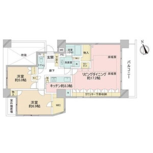 2LDK Apartment in Tomigaya - Shibuya-ku Floorplan