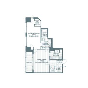 1LDK Apartment in Motoazabu - Minato-ku Floorplan