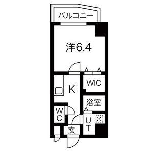 大阪市生野区 中川 1K マンション 間取り