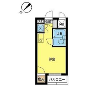 1R Mansion in Asagayakita - Suginami-ku Floorplan