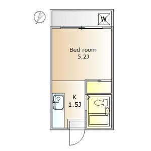 1K Apartment in Wakabayashi - Setagaya-ku Floorplan