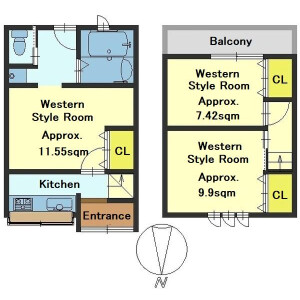 3K {building type} in Nishino sagichocho - Kyoto-shi Yamashina-ku Floorplan