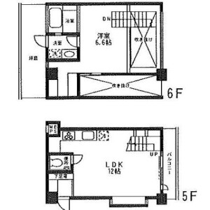 1LDK Mansion in Tamagawadai - Setagaya-ku Floorplan