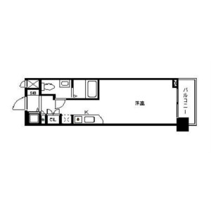 1K Apartment in Nishitemma - Osaka-shi Kita-ku Floorplan