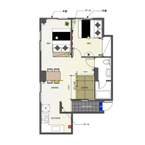 1LDK Mansion in Shinjuku - Shinjuku-ku Floorplan