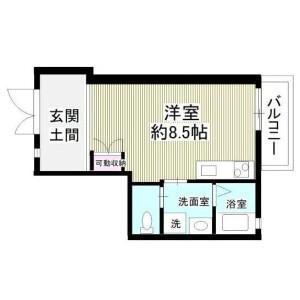 川崎市高津区瀬田-1R公寓 房間格局