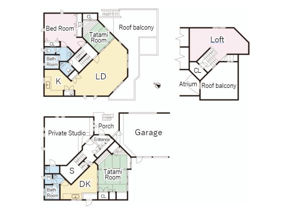 5LDK House to Buy in Setagaya-ku Floorplan