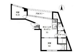 2DK Apartment in Hiroo - Shibuya-ku