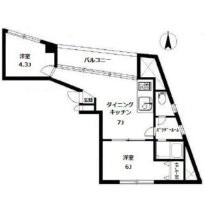 2DK Mansion in Hiroo - Shibuya-ku Floorplan