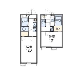1K Apartment in Shimo - Kita-ku Floorplan