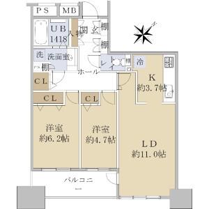 葛飾区 新小岩 2LDK {building type} 間取り