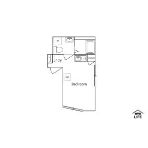 1R Apartment in Higashiogura - Kawasaki-shi Saiwai-ku Floorplan