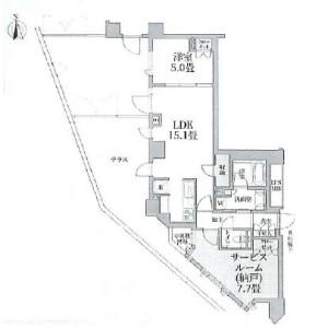1LDK {building type} in Hiroo - Shibuya-ku Floorplan