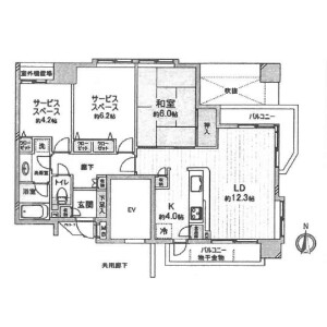 1SLDK {building type} in Shimomyokakujicho - Kyoto-shi Nakagyo-ku Floorplan