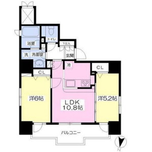 2LDK Mansion in Kudankita - Chiyoda-ku Floorplan
