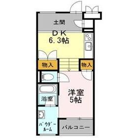 1DK Apartment in Midorigaoka - Meguro-ku Floorplan