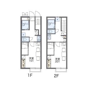 1K Apartment in Kamidaira - Fussa-shi Floorplan