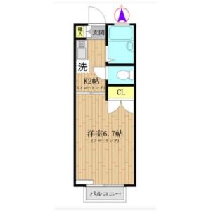 世田谷区松原-1K公寓大厦 楼层布局