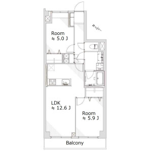 2LDK {building type} in Higashioi - Shinagawa-ku Floorplan