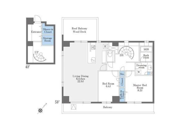 2LDK Apartment to Rent in Toshima-ku Floorplan