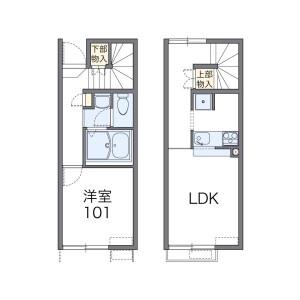 2DK Apartment in Nogawa - Wakayama-shi Floorplan
