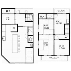 3DK {building type} in Ogurisu morimotocho - Kyoto-shi Fushimi-ku Floorplan