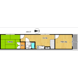 2DK Mansion in Sumie - Osaka-shi Sumiyoshi-ku Floorplan
