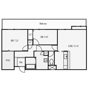 2LDK Mansion in Shinikecho - Nagoya-shi Chikusa-ku Floorplan