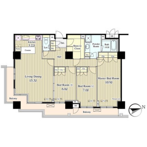 3LDK Mansion in Jinnan - Shibuya-ku Floorplan