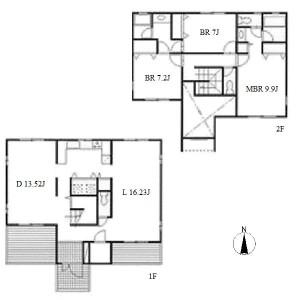名古屋市名東区社台-3LDK独栋住宅 楼层布局