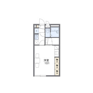 1K Apartment in Wanagaya - Matsudo-shi Floorplan