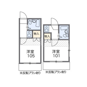 1K Apartment in Minamienokicho - Shinjuku-ku Floorplan