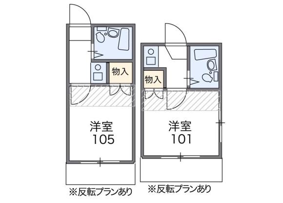 在新宿区内租赁1K 独栋住宅 的 楼层布局