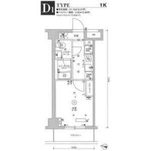 1K Mansion in Kyomachi - Kawasaki-shi Kawasaki-ku Floorplan