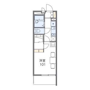 1K Mansion in Asahicho - Kashiwa-shi Floorplan